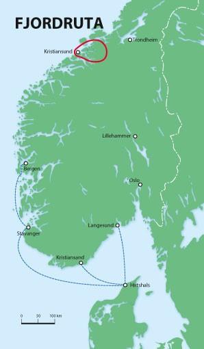Wanderkarte Fjordruta