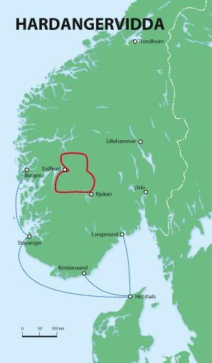 Wanderkarte Hardangervidda