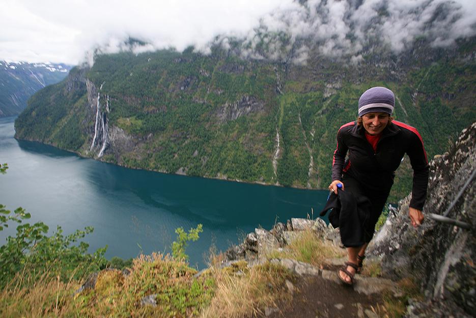 Wanderung beim Geirangerfjord